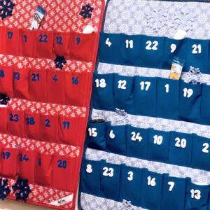 Látkový adventní kalendář pro děti